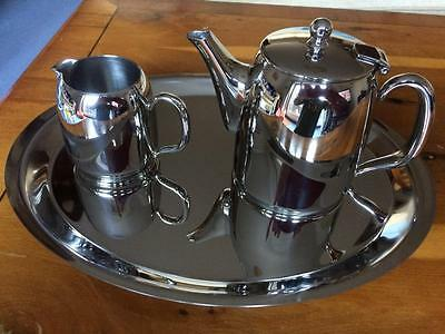 Air France Concorde Chrome Tea Coffee Service with Tray 1990's Rare
