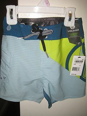 NWT Macy's Toddler Boys Volcom Liberate Lido Mod Board Shorts 2T MSRP $42 Lime