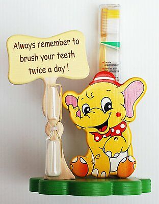 Elephant Toothbrush Holder with Toothbrush & Timer - Italian - Handcrafted
