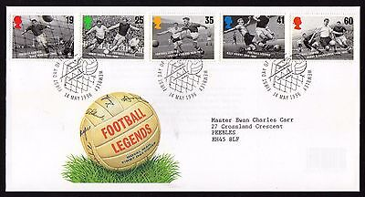 First Day Cover.... Football Legends (14th May 1996)