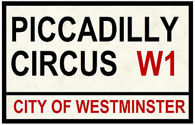 Street / Road Signs (Piccadilly Circus) - Souvenir Novelty Fridge Magnet - Gift