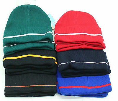 New Job Lot 12 x Soft Knit Unisex Beanie Hats - Free P&P