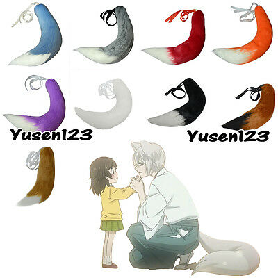 US SHIP Spice and Wolf Fox Halloween Tail Ears Plush Role Cosplay Prop