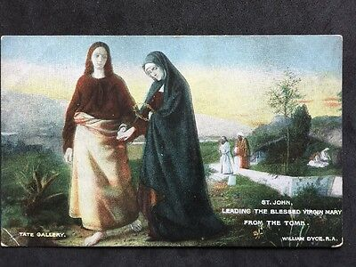 Vintage Postcard - RP Religious #27 - St John & The Tomb - Dyce - Tate Gallery