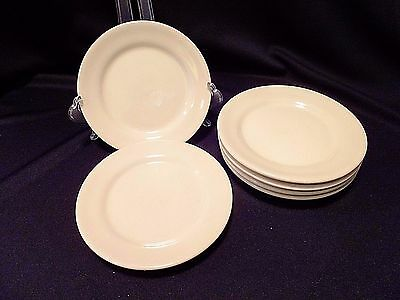 Set of 6 Vintage Brown Wallace Restaurant Ware Bread & Butter Plates