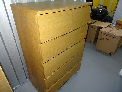 Malm 6 chest of drawers set