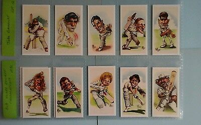 J Brindley Bob Hoare  Cricket Charactures Full Set Mint condition in Sleeves