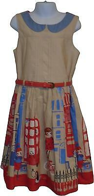 USED Girls Next City Print Dress 9 Years (E.A)