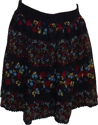 USED F&F Girls Floral Printed Skirt Navy 9-10 Years (E.A)