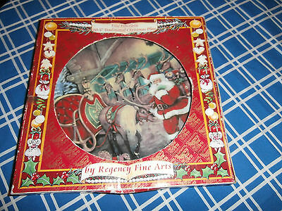 Regency Fine Arts Porcelain 10.5inch Christmas plate boxed vgc