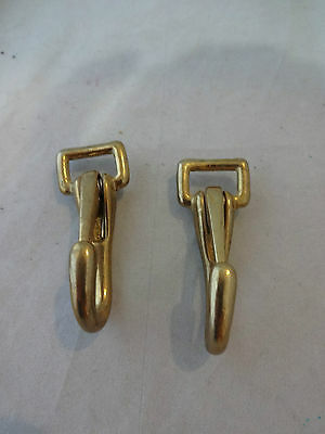 "Pair Solid Brass Snaps 5/8"" Halter Headstall Reins Horse Tack Hardware #56 New"