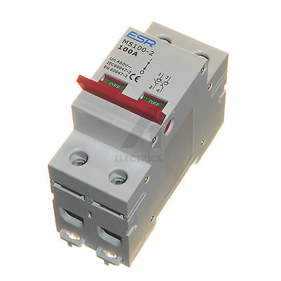100 amp double pole main isolator switch incomer 100A DP for consumer units etc
