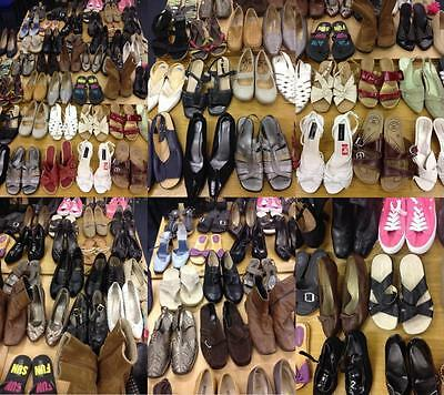 Job Lot / Bundle of 50 Pairs of Ladies Shoes Various Sizes & Brands