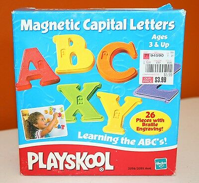 Playskool Magnetic Braille Capital Letters With Box Hasbro