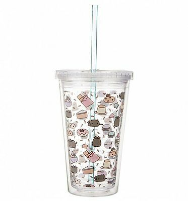 Official Pusheen Drinks Cup With Straw