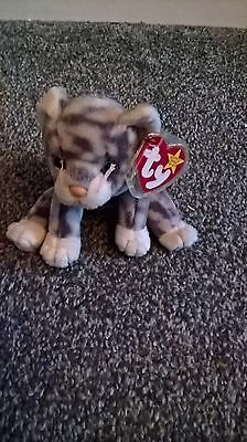 TY Beanie Babies Silver the Cat