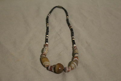 Ancient Roman pottery stone  beads necklace c.1st 2nd century AD