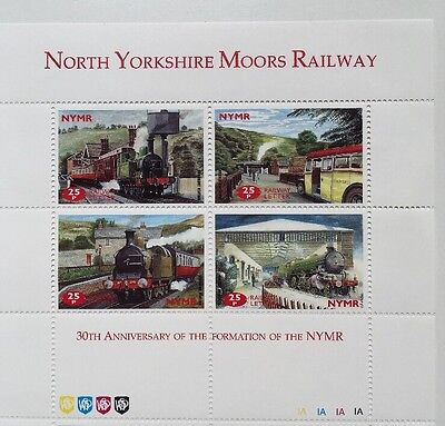 North Yorkshire Moors Railway 30th Anniversary of NYMR Formation sheet MNH 1997
