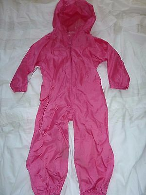 Suit in a sack pink waterproof suit 2 years - bargain!