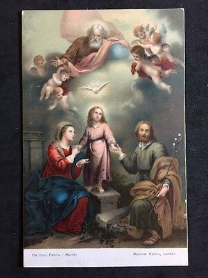 Vintage Postcard - Religious #59 - Misch & Co - Holy Family - Murillo