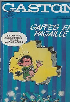 Franquin tome 17 Gaffes en pagaille gaston Lagaffe Ed. Collector 52 p. TBE