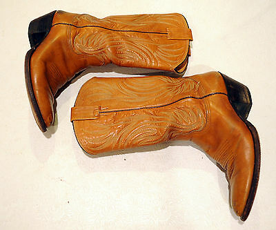 Nocona Brown Leather Cowboy Western Boots Size 9 D Style 4701
