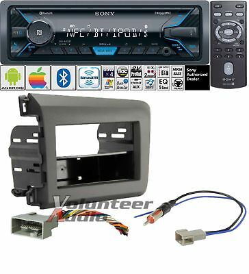 Sony Bluetooth Stereo Multi Media Player Dash Install Mounting Kit Harness No CD