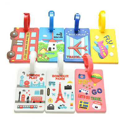 Luggage Tags Strap Name Address ID Suitcase Baggage Travel Label Tag CL