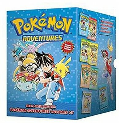 Pokemon Adventures Comics Red and Blue Volume 1-7 Box Set Manga Gift Collection