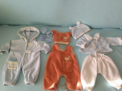 """Selection Of Assorted Clothes For 18"""" Boy Doll Will Fit Baby Annabells Brother"""