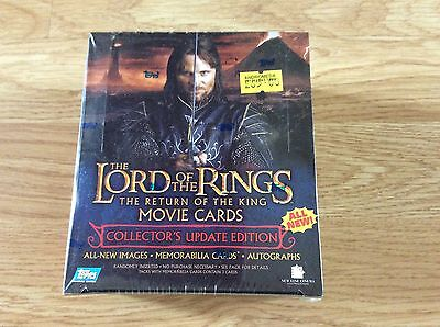 the lord of the rings the return of the king movie cards sealed box