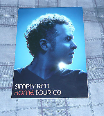 Simply Red HOME UK Tour Programme 2003 FREE POSTAGE