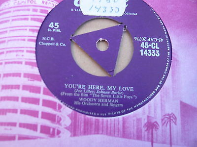 Woody Herman-You're here My Love-TRI CAPITOL 14333 in EX Condition.