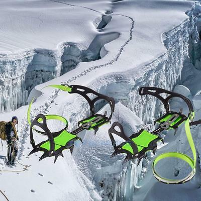 14-Teeth Bundled Crampons Professional Ice Gripper Snow Climbing Boots Cleats