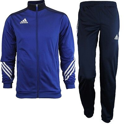New Mens Adidas Full Tracksuit Jogging Bottoms Zip Jacket Track Top - Blue