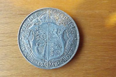 British Sterling Silver Halfcrown Coin 1912 Very Fine Grade Nicely Toned.