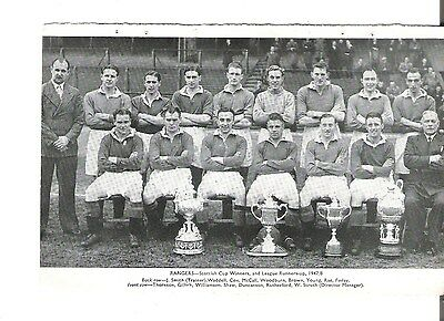 Team Pic from 1948-49 Football Annual - GLASGOW RANGERS + EAST FIFE