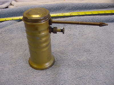 Eagle Finger Pump Oil Can Oiler Usa  Brass Vintage . Not Cleaned