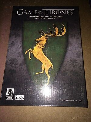 Game of Thrones Limited Edition Renly Baratheon Shield Wall Plaque NIB