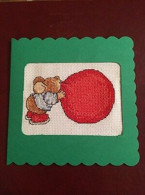 Country Companions Cross Stitch Card