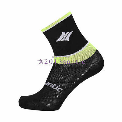 Santic Cycling Breathable Socks Bicycle Bike Outdoor Black Comfortable Sock 42V