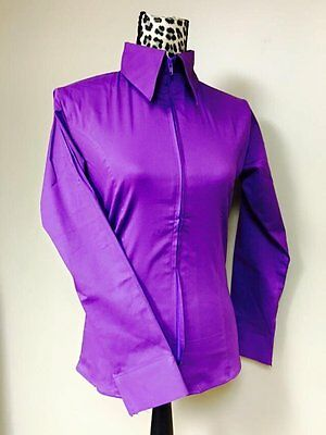 Fitted Zip Front Shirt - Purple
