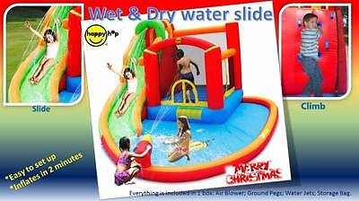 HAPPY HOP Wet & Dry Inflatable Water Zone Jumping Castle and water slide (9116A)