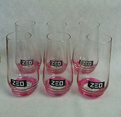 Six Stunning Russian Zeo Heavy Based Glasses Ideal for Home Bar - Pub