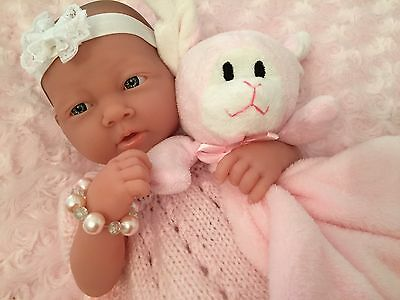 Berenguer La Newborn Ac Baby Girl Doll Magnetic Dummy 3 Outfits Reborn Or Play