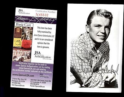 Richard Jaeckel Actor Deceased Signed 3X5 Postcard Jsa Authenticated Coa #45532