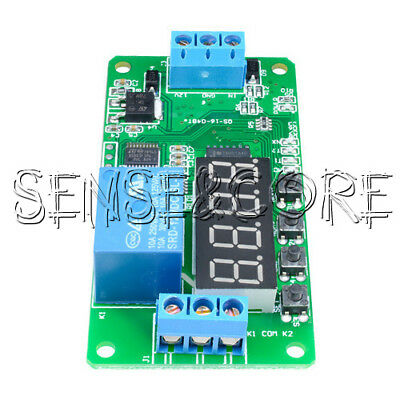 12V DC Multifunction Self-lock Relay PLC Cycle Delay Time Timer Switch Modul New