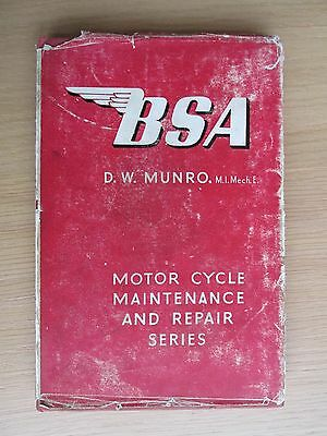 Bsa Motor Cycle Maintenance And Repair By D W Munro