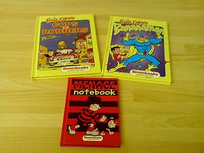 beano comic capers books and note book
