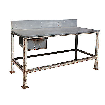 Large Salvaged Industrial Work Table, Colonial Bread, NCRT10
